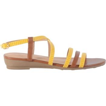 Chaussures Femme Sandales et Nu-pieds The Divine Factory Sandale QL4342 Ocre Camel