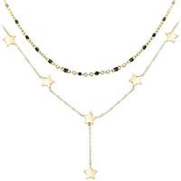 Montres & Bijoux Femme Colliers / Sautoirs Sc Bohème B2305-DORE+B2394-NOIR Doré