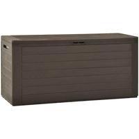Maison & Déco Paniers, boites et corbeilles Vidaxl Boîte de rangement d'extérieur 116 x 44 x 55 cm Brun
