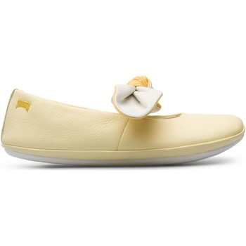 Chaussures Fille Ballerines / babies Camper Ballerines cuir RIGHT jaune
