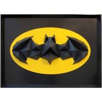 Maison & Déco Tableaux, toiles Polygone Origami Batman Jaune et Noir