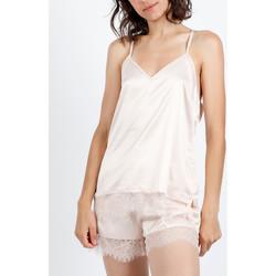 Vêtements Femme Pyjamas / Chemises de nuit Admas Pyjama short débardeur Navy And Black Ivoire