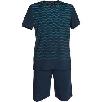 Vêtements Homme Pyjamas / Chemises de nuit Lisca Pyjama short t-shirt Hypnos bleu  Men Bleu