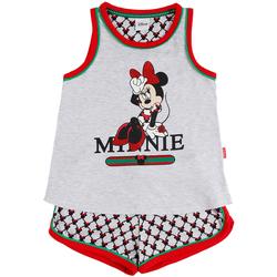 Vêtements Fille Pyjamas / Chemises de nuit Admas Pyjama fille short débardeur Minnie Cool Disney gris Gris