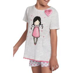 Vêtements Fille Pyjamas / Chemises de nuit Admas Pyjama fille short t-shirt Awareness Santoro gris Gris
