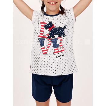 Vêtements Fille Pyjamas / Chemises de nuit Admas Pyjama fille short t-shirt LouLou Love gris Gris