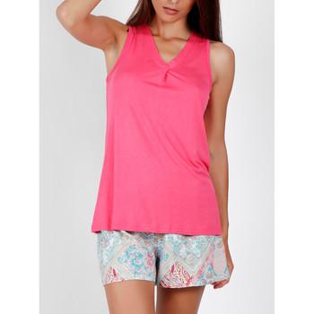 Vêtements Femme Pyjamas / Chemises de nuit Admas Pyjama short débardeur Colored Diamonds rose Rose