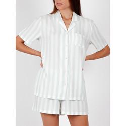 Vêtements Femme Pyjamas / Chemises de nuit Admas Pyjama chemise short Classic Stripes vert Vert