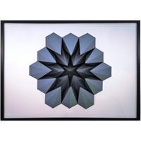 Maison & Déco Tableaux, toiles Polygone Origami Gravité Gris foncé fond blanc