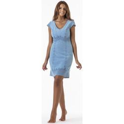 Vêtements Femme Robes courtes La Cotonniere ROBE TRIANA Bleu