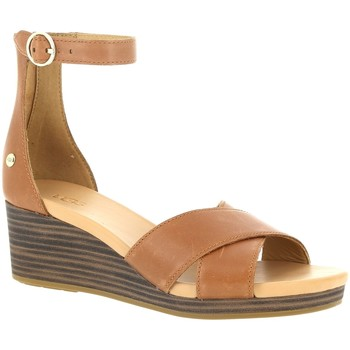 Chaussures Femme Sandales et Nu-pieds UGG W EUGENIA LEATHER Tan