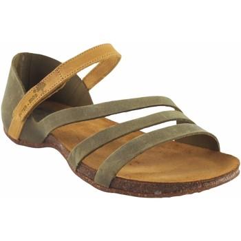 Chaussures Femme Jmksport & ME Interbios Sandale femme  4476 kaki Jaune