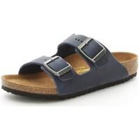 Chaussures Garçon Mules Birkenstock 553883 BLEU