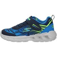 Chaussures Garçon Baskets basses Skechers 401500N BLEU MARIN