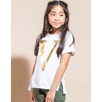 Vêtements Fille T-shirts manches courtes Vicolo 3146M0301 T-shirt Enfant CRÈME CRÈME