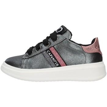 Chaussures Fille Baskets basses Café Noir C-740 GRIS