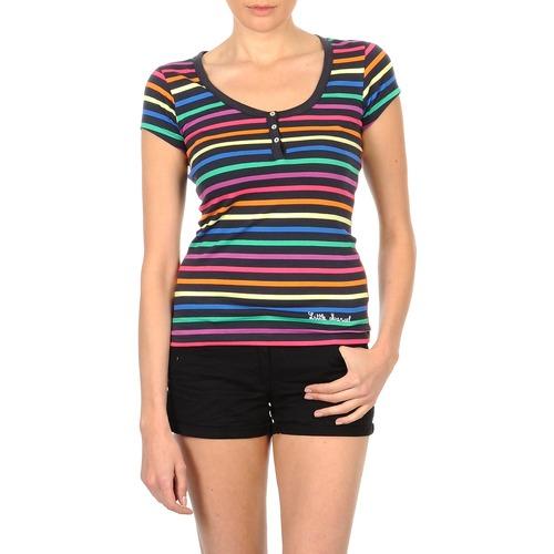 Vêtements Femme T-shirts manches courtes Little Marcel TATUM Noir / Multicolore