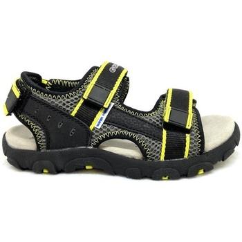Chaussures Garçon Sandales sport Geox STRADA SANDALE VELCROS E Noir
