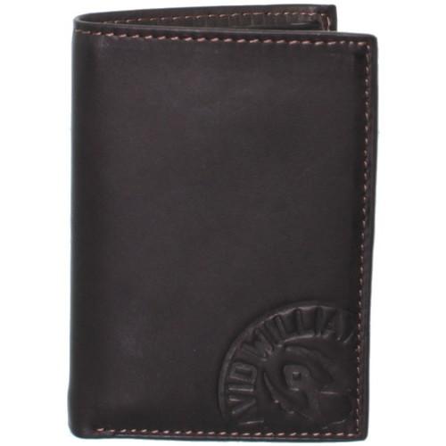 Sacs Homme Portefeuilles David William Porte-cartes  en cuir ref_lhc37145-marron Marron