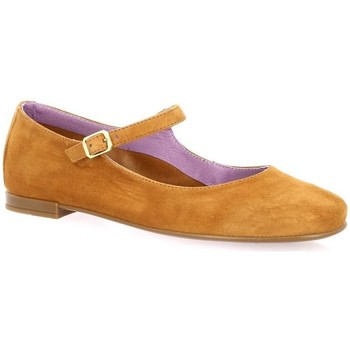 Chaussures Femme Ballerines / babies Pao Ballerines cuir velours Cognac