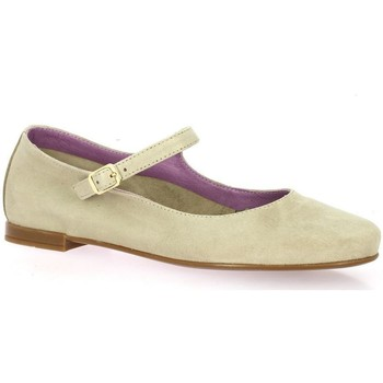 Chaussures Femme Ballerines / babies Pao Ballerines cuir velours Taupe