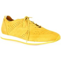 Chaussures Femme Baskets basses Pao Baskets cuir velours Jaune