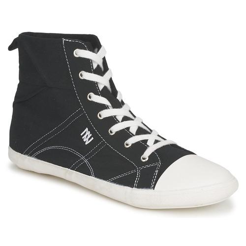 Chaussures Femme Baskets montantes Dorotennis MONTANTE LACET INSERT Noir
