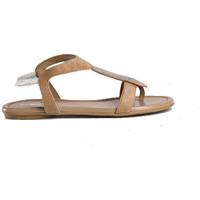 Chaussures Femme Sandales et Nu-pieds Reqin's Sandale Bernie strass peau Beige