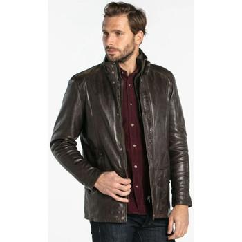 Vêtements Homme Vestes en cuir / synthétiques Daytona GLOSTER IC LAMB ZENITH BROWN Marron