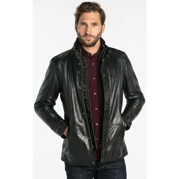 Vêtements Homme Vestes en cuir / synthétiques Daytona GLOSTER IC LAMB ZENITH BLACK Noir