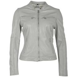 Vêtements Femme Vestes en cuir / synthétiques Gipsy CHARLEE LAORV LIGHT GREY Gris