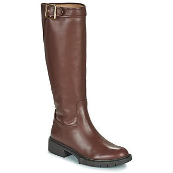 Chaussures Femme Bottes ville Coach LEIGH Cognac