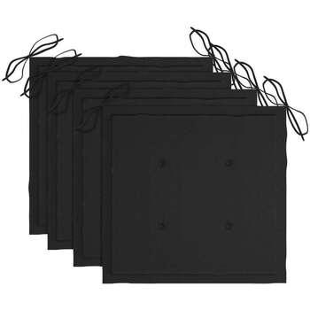 Maison & Déco Galettes de chaise VidaXL Coussin de chaise 40 x 40 x 4 cm Noir