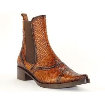 Chaussures Femme Bottines PintoDiBlu 9951 CAMEL PYTHON