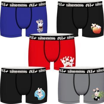 Sous-vêtements Garçon Boxers Lapins Cretins BCX5LOT Noir