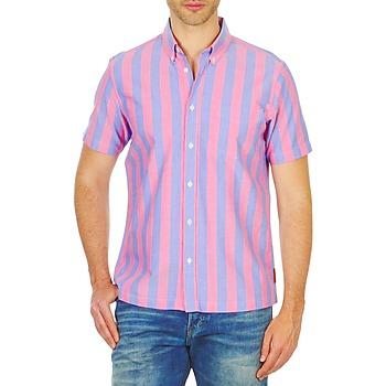 Vêtements Homme Chemises manches courtes Ben Sherman BEMA00487S Rose / Bleu