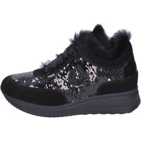 Chaussures Femme Baskets basses Agile By Ruco Line Sneakers Paillettes Noir