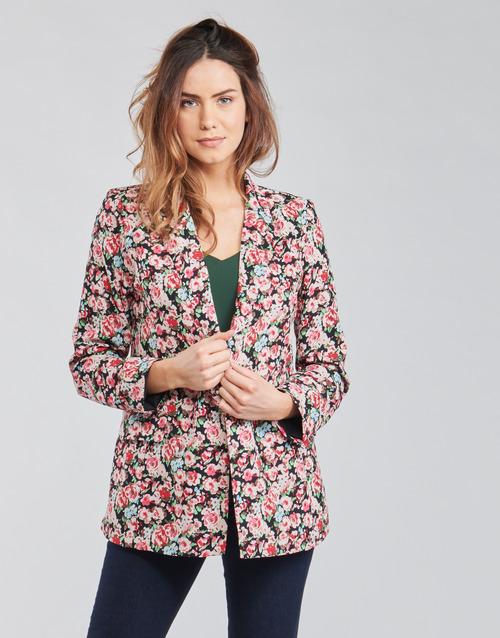 Vêtements Femme Vestes / Blazers Betty London OBIMBA Noir / Rose