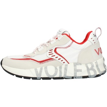 Chaussures Homme Baskets basses Voile Blanche 001201592601 Blanc et rouge
