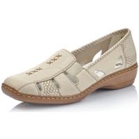 Chaussures Femme Mocassins Rieker 41385-62 BEIGE