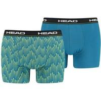 Sous-vêtements Homme Boxers Head Lot de 2 Boxers Homme Coton AOP Lime Bleu