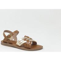 Chaussures Fille Sandales et Nu-pieds L'atelier Tropezien CADET SANDALE TAN Marron