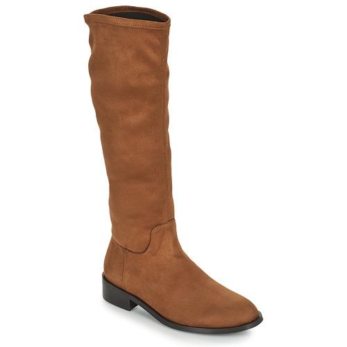 Chaussures Femme Bottes ville JB Martin AMOUR Marron