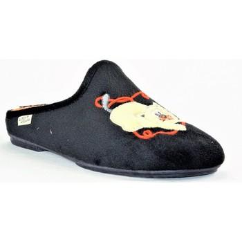 Chaussures Femme Chaussons La Maison De L'espadrille 6763 NOIR