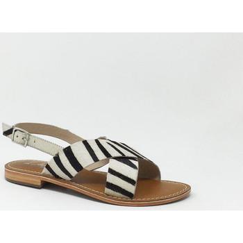 Chaussures Femme Sandales et Nu-pieds L'atelier Tropezien SANDALE ZEBRA Autres