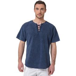Vêtements Homme T-shirts manches courtes La Cotonniere TUNIQUE CORDON Bleu