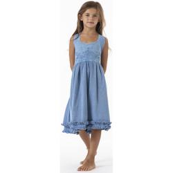Vêtements Fille Robes courtes La Cotonniere ROBE LEONOR Bleu