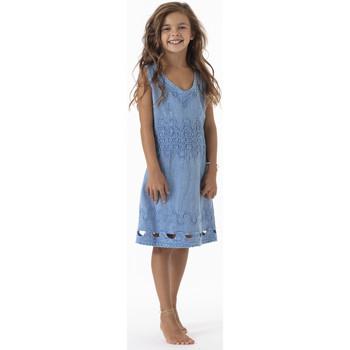 Vêtements Fille Robes courtes La Cotonniere ROBE DAISY Bleu