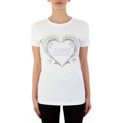 Vêtements Femme T-shirts manches courtes Love Moschino W4F731NM3876 blanc