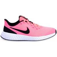 Chaussures Enfant Baskets basses Nike Revolution 5 GS Blanc, Noir, Rose